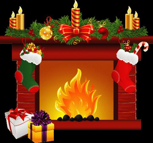 Noel cheminees - Decoration de noel cheminee ...