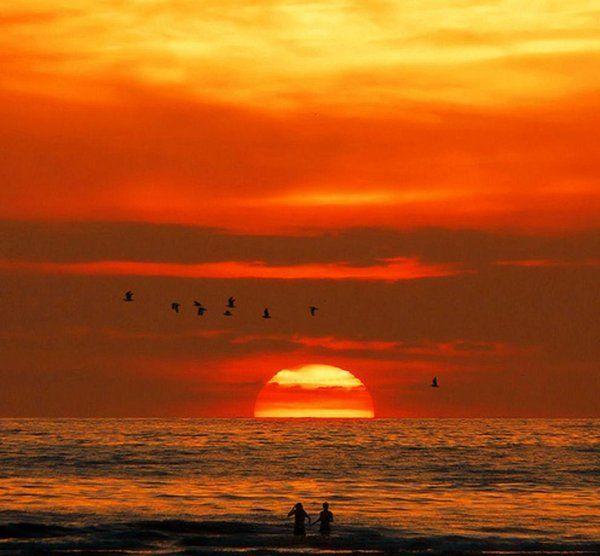Paysages coucher de soleil page 13 - Dessin coucher de soleil ...