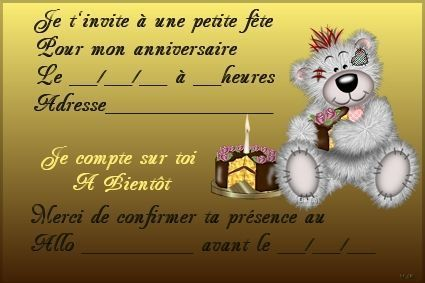 Cartes invitation