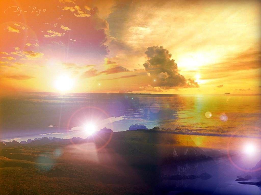 Paysages coucher de soleil page 13 - Fond ecran coucher de soleil sur la mer ...