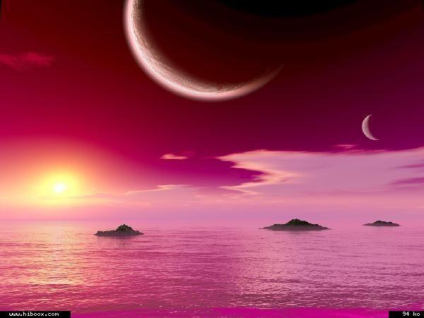 Paysages coucher de soleil page 19 - Coucher de soleil rose ...