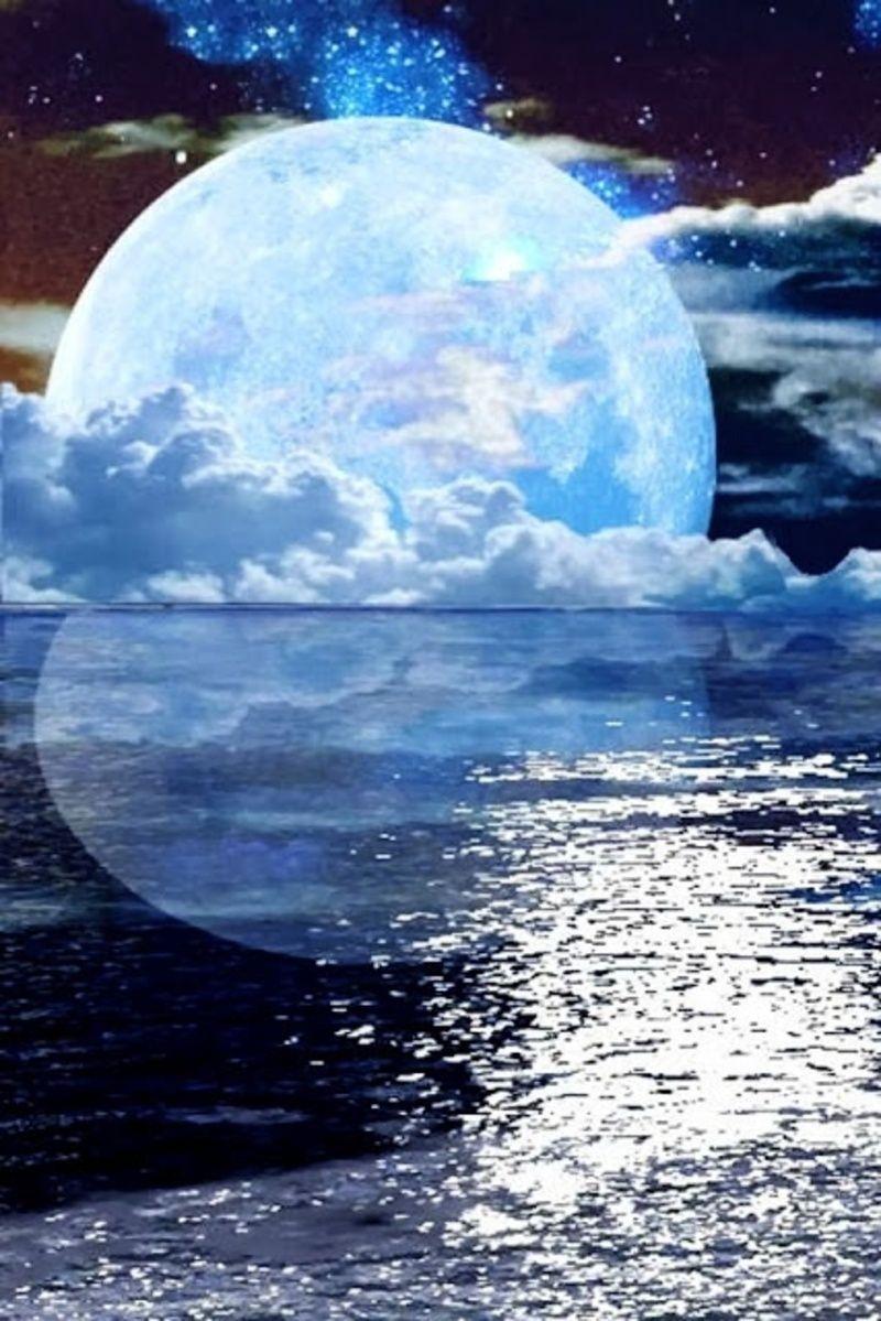 paysage coucher de lune