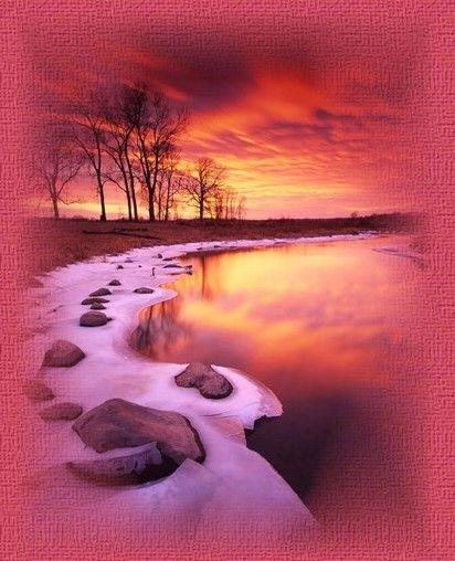 Paysages coucher de soleil page 16 - Coucher de soleil rose ...